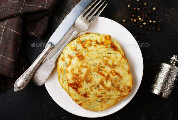 vagetable pancakes - Stock Photo - Images