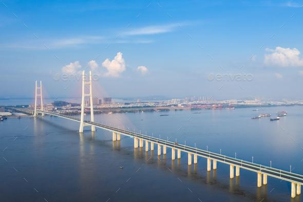 the second jiujiang bridge - Stock Photo - Images