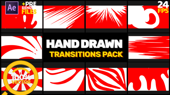 Hand Drawn Transitions // Afrer Effects Download