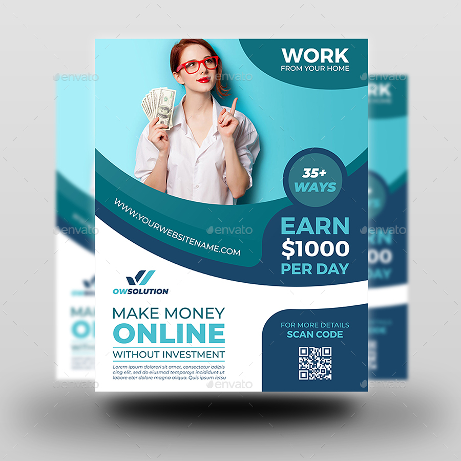 make money online flyer template by owpictures
