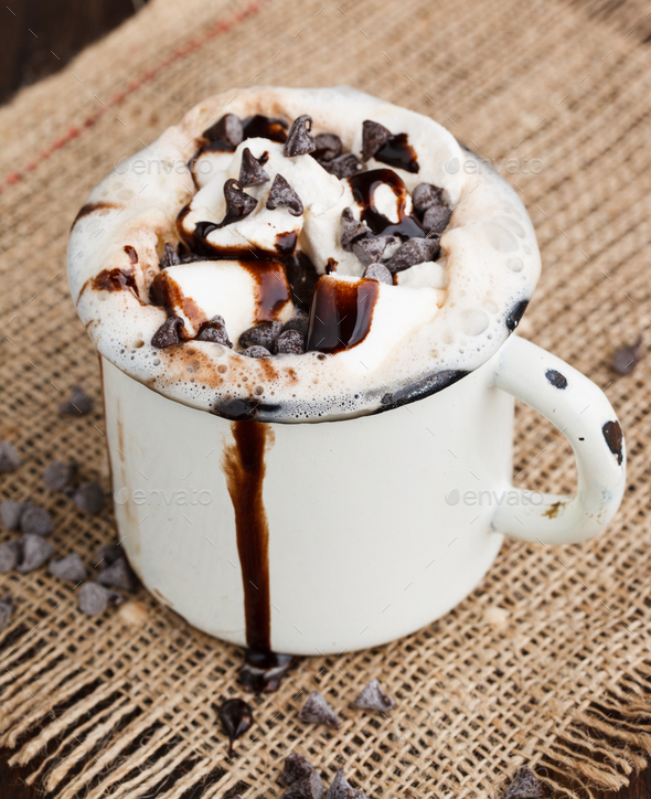 Spicy hot chocolate mocha - Stock Photo - Images