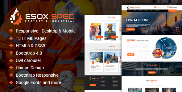 Esox Spec – Factory & Industrial HTML Template