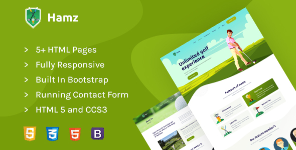 Hamz - Golf and Sport HTML template by athemeart