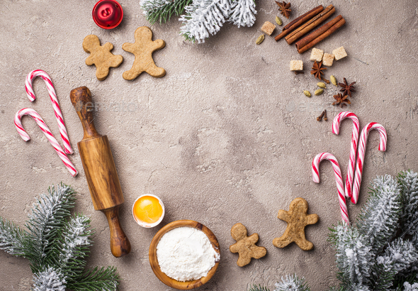 Ingredients for baking Christmas cookies - Stock Photo - Images