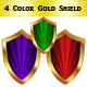 Colorful shield set - GraphicRiver Item for Sale