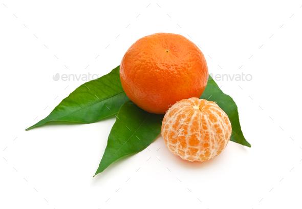Isoalted tangerine. - Stock Photo - Images