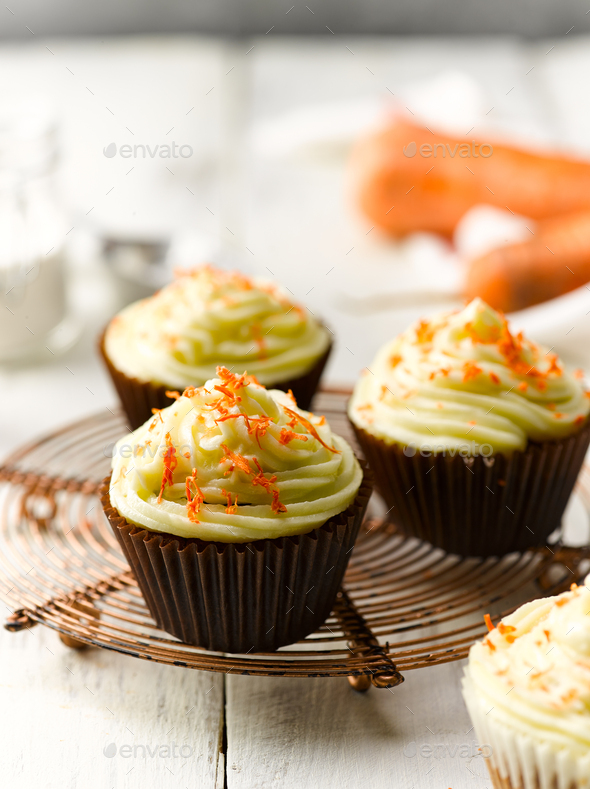 Carrot Cup Cake - Stock Photo - Images