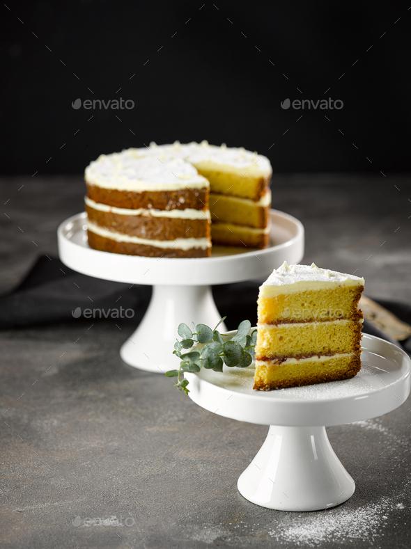Sponge Cake - Stock Photo - Images