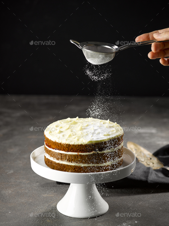 Sponge Cake - Stock Photo - Images