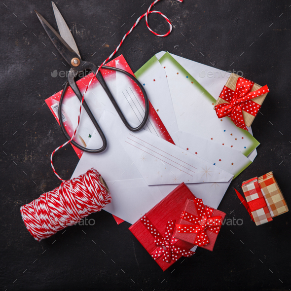 Christmas background  with decorations - Stock Photo - Images