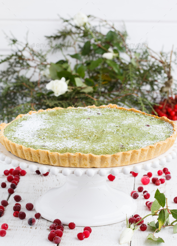 Festive Pastries.Tart. - Stock Photo - Images