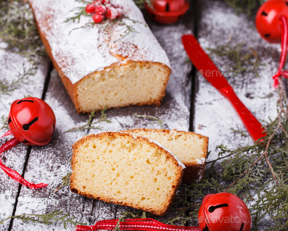 Cake ,decorated for Christmas - Stock Photo - Images