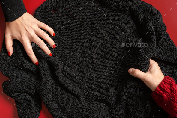 Black Friday Background with Female Hands - Stock Photo - Images