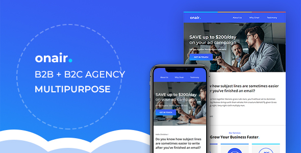 Onair - Responsive Email Newsletter Template by yemail