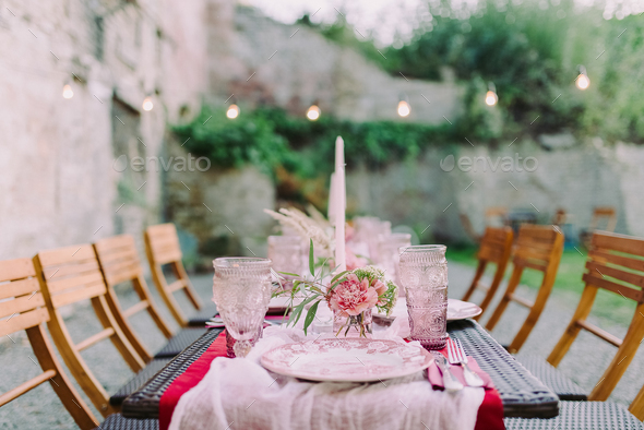 Wedding table decor - Stock Photo - Images