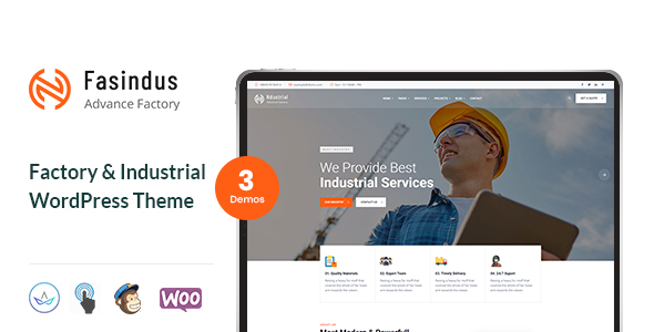 Download Industrial Fasindus – Industry Factory Theme Free Nulled