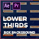 Clean Boxed Lower Thirds | MOGRT - VideoHive Item for Sale