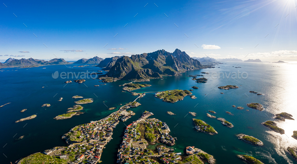 Henningsvaer Lofoten is an archipelago in the county of Nordland - Stock Photo - Images