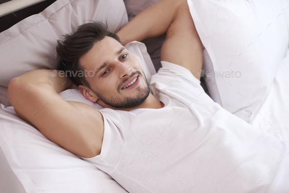 This nap was really refreshing - Stock Photo - Images