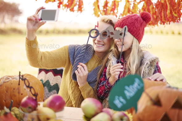 Selfie from our Halloween party - Stock Photo - Images