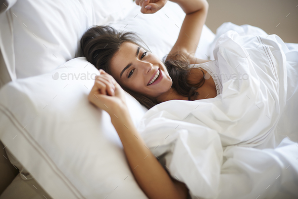 This bed is so comfortable - Stock Photo - Images
