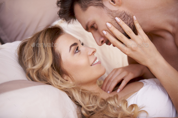 Close up of cute couple in love - Stock Photo - Images