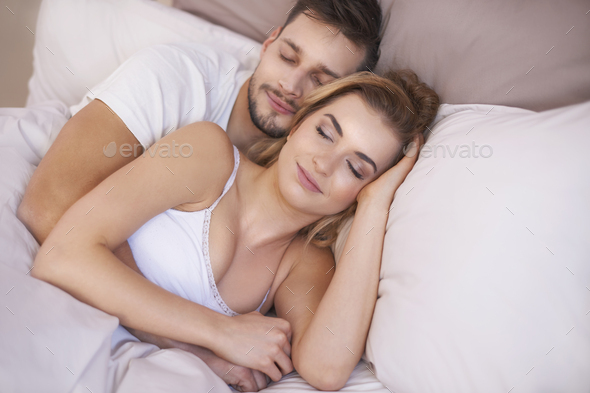 Comfortable nap with my beloved - Stock Photo - Images