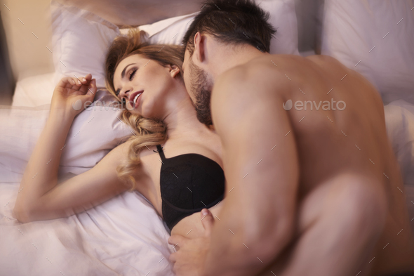 Moment of ecstasy in the bedroom - Stock Photo - Images