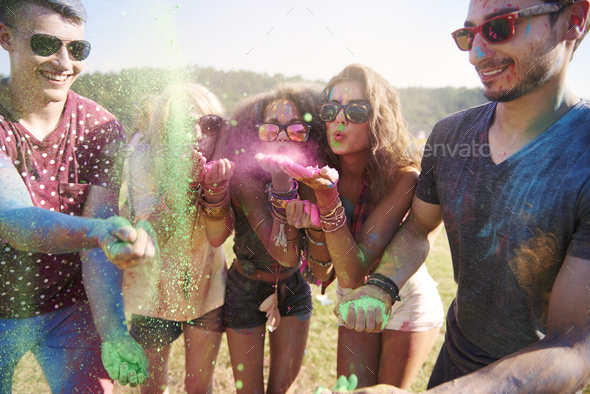 Great party with my friends - Stock Photo - Images