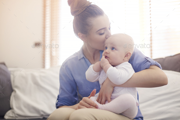 Mommy's little and cute angel - Stock Photo - Images
