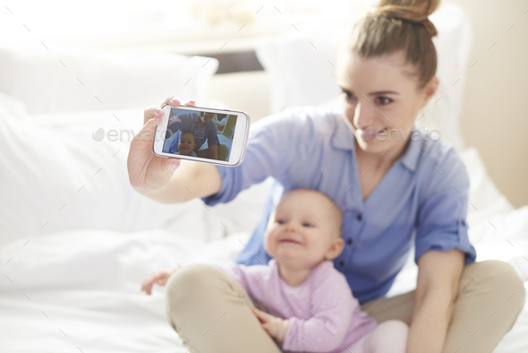 Selfie with my little princess - Stock Photo - Images