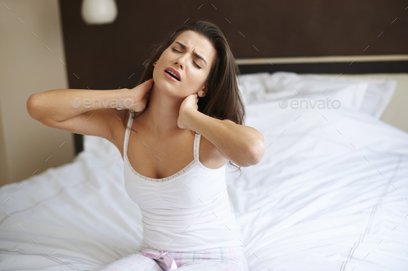 This new mattress is very uncomfortable - Stock Photo - Images