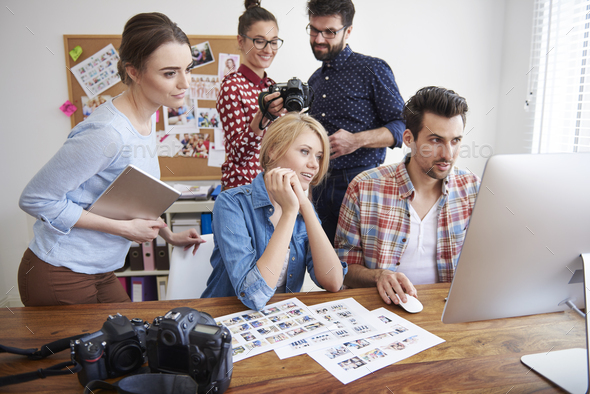 Good collaboration between creative photographers - Stock Photo - Images