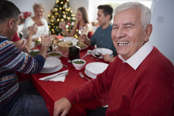 My family always spends christmas with us - Stock Photo - Images