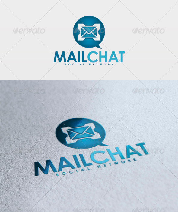 Mail Chat Logo - Symbols Logo Templates