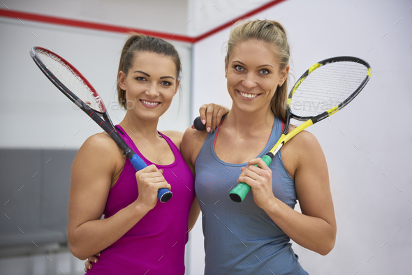 Squash is their favorite sport - Stock Photo - Images