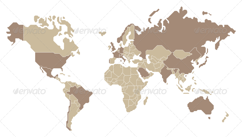 Vector world map countries selectable and named by tojio vector world map countries selectable and named decorative vectors previews01g gumiabroncs Choice Image