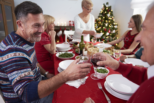 The beginning of the Christmas Eve - Stock Photo - Images