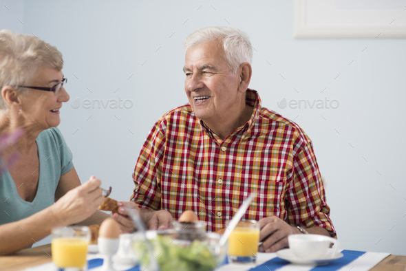 Morning meal on the sunny day - Stock Photo - Images