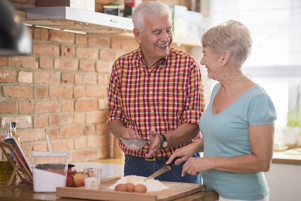Man can also me a good cook - Stock Photo - Images