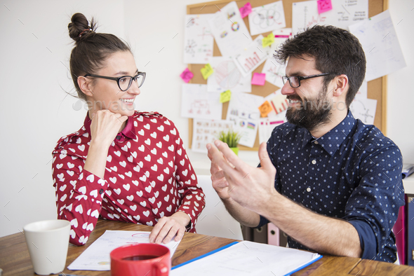 Good colleagues should be also good friends - Stock Photo - Images