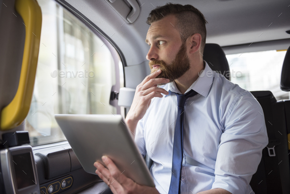 Thinking about new project while driving to work - Stock Photo - Images