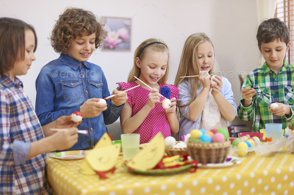 Let's start painting Easter eggs - Stock Photo - Images