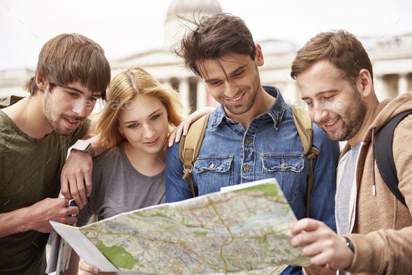 Too many places to see in one day - Stock Photo - Images