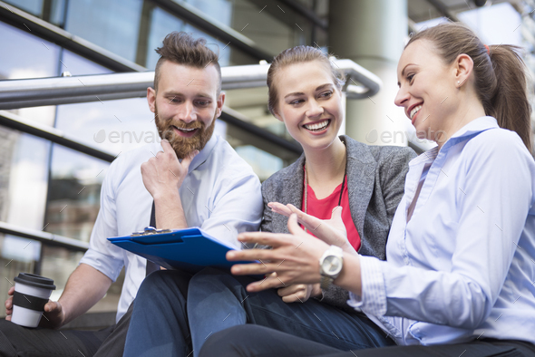 Planning work with colleagues is great way for success - Stock Photo - Images