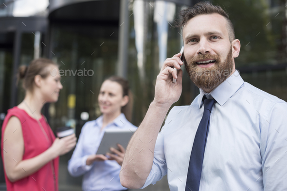 Being always available for my customer - Stock Photo - Images
