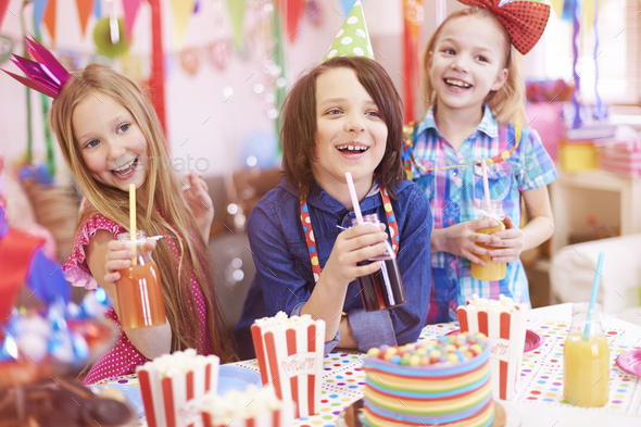 Great party for those kids - Stock Photo - Images