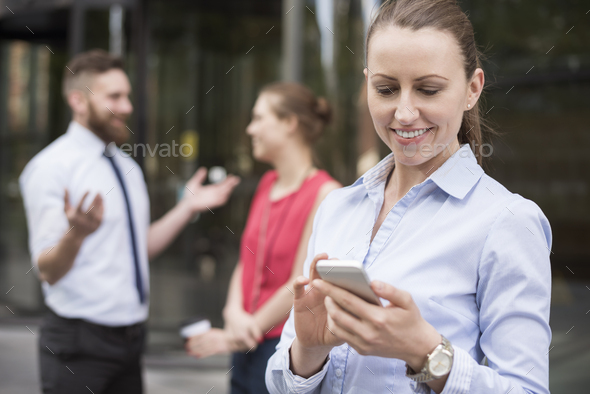Quick phone during the meeting with investors - Stock Photo - Images