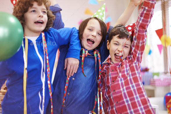 Party hard of group of boys - Stock Photo - Images