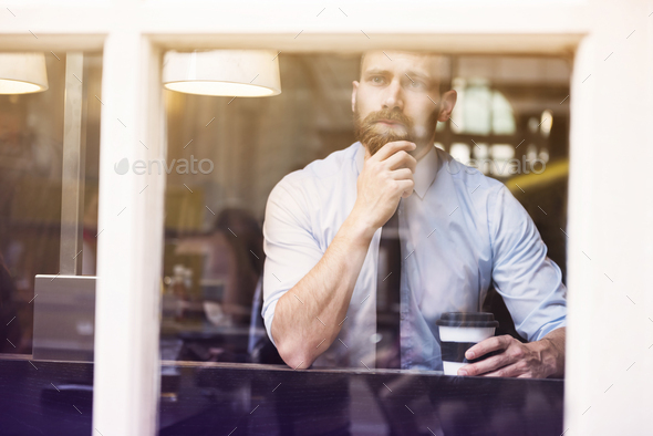 Thinking about next step in my career - Stock Photo - Images